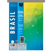 Caderno Colado ao Alto Académie Brasil 50 Folhas 1 UN Tilibra