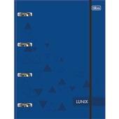 Caderno Argolado Universitário Cartonado com Elástico 80 FL Lunix Azul 1 UN Tilibra