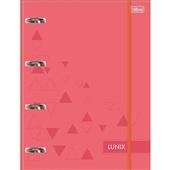 Caderno Argolado Universitário Cartonado com Elástico 80 FL Lunix Coral 1 UN Tilibra