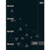 Caderno Argolado Universitário Cartonado com Elástico 80 FL Lunix Preto 1 UN Tilibra