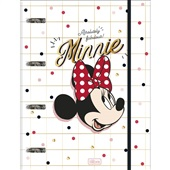 Caderno Argolado Universitário Cartonado Com Elástico 80 FL Minnie 1 U