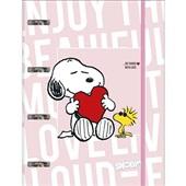 Caderno Argolado Universitário Cartonado com Elástico 80 FL Snoopy 1 U