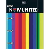 Caderno Argolado Universitário Cartonado com Elástico 80 FL Now United 1 UN Tilibra