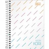 Caderneta Espiral Capa Plástica 1/8 sem Pauta Neon Kori 80 FL 1 UN Tilibra