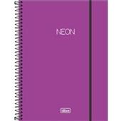 Caderno Universitário Capa Dura 1 Matéria Neon Roxo 80 FL 1 UN Tilibra