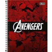Caderno Colegial Capa Dura 10 Matérias 160 FL Avengers Heroes A 1 UN Tilibra