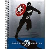 Caderno Colegial Capa Dura 10 Matérias 160 FL Avengers Heroes C 1 UN T