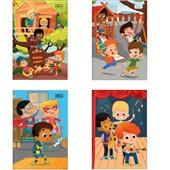 Caderno Brochura Capa Dura 1/4 96 FL Sapeca Masculina Capas Sortidas 1 UN Tilibra