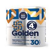 Papel Higiênico 30m Folha Simples Branco PT 4 RL Golden