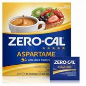 Adoçante em Pó Aspartame 0,6g Sachê CX 50 Zero-cal