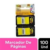 Marcador de Página Adesivo Flags Amarelo 25,4 mm x 43,2 mm 100 folhas Post-it