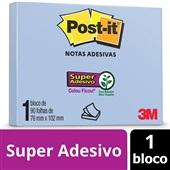 Bloco Adesivo 90 Folhas 76x102mm Azul 1 UN Post-it