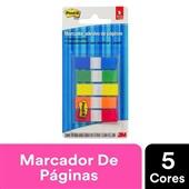 Marcador de Página Adesivo Flags 5 Cores Sortidas 11,9 mm x 43,2 mm 100 folhas Post-it