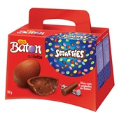 Ovo de Pascoa Baton Smarties 222g Nestle