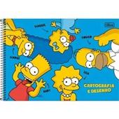 Caderno Cartografia e Desenho Capa Dura 80 FL Simpsons B 1 UN Tilibra