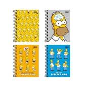 Caderneta Espiral Capa Dura 1/8 80 FL The Simpsons Sortido 1 UN Tilibra