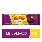 Barra de Chocolate Meio Amargo 500g Garoto