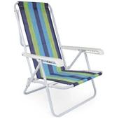 Cadeira Reclinável Aço 4 Posições Estampa 2 Mor