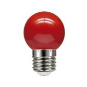 Lâmpada Led Bolinha E27 05 1W 127V Vermelha 1 UN Taschibra