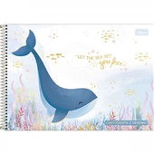 Caderno Cartografia e Desenho Capa Dura 80 FL Bubble B 1 UN Tilibra