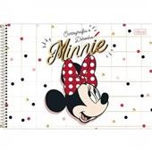 Caderno Cartografia e Desenho Capa Dura 80 FL Minnie B 1 UN Tilibra