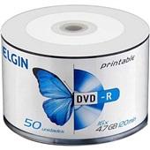 DVD-R Gravável 120min 4.7GB 1X-16X 50 UN Elgin