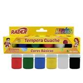 Tinta Guache 6 Cores 15ml Radex