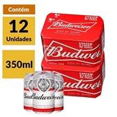 Cerveja Budweiser Lata 350ml CX 12 UN