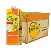 Leite UHT Integral Zero Lactose 1L CX 12 UN Ninho