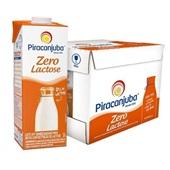 Leite UHT Semidesnatado Zero Lactose 1L CX 12 UN Piracanjuba