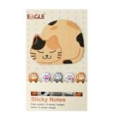 Bloco Adesivo Tipo Envelope Gato com Manchas 25 Folhas Sertic