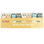 Marcador de Página Eagle em formato de Coruja 8 blocos com 15 folhas Sertic