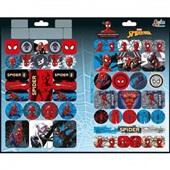 Adesivo Decorado Duplo Metalizado Spider Man 1 Folha 1 UN Tilibra