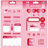 Adesivo Decorado Duplo Love Pink 1 Folha 1 UN Tilibra