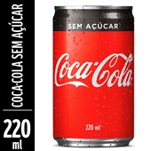 Refrigerante Coca Cola Zero Lata 220ml 1 UN