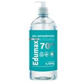 Álcool em Gel Antisséptico para Mãos 70% 1L 1 UN Edumax