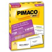 Cartão de Visita Personal Cards 7188 PT 100 Folhas 1 UN Pimaco