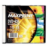 DVD-RW Regravável 4.7GB 120 Minutos 1X-4X 1 UN Maxprint