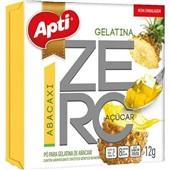 Gelatina em Pó Zero Abacaxi 12g 1 UN Apti