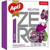 Gelatina em Pó Zero Uva 12g 1 UN Apti