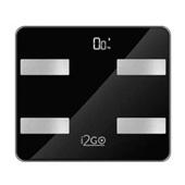 Balança Digital Inteligente Bioimpedância Bluetooth Preta 1462 1 UN I2GO Home