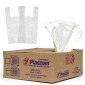 Sacola Plástico Branco 38x48 CX 1000 UN Plaszom