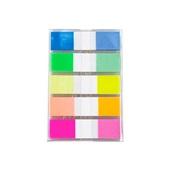 Marcador de Página Flag Pop-Up 12x45mm 5 Cores Neon 100 Folhas EI023 1 UN Keep