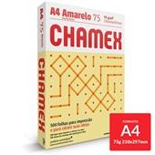 Papel Sulfite Colors Amarelo 75g A4 210x297mm 500 FL Chamex