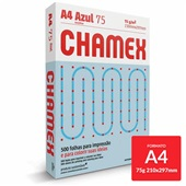 Papel Sulfite Colors Azul 75g A4 210x297mm PT 500 FL Chamex