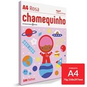 Papel Sulfite Chamequinho Rosa 75g A4 21x29,7cm 100 FL Chamex