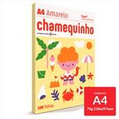 Papel Sulfite Chamequinho Amarelo 75g A4 21x29,7cm 100 FL Chamex