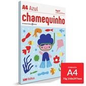 Papel Sulfite Chamequinho Azul 75g A4 21x29,7cm 100 FL Chamex