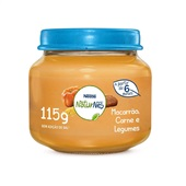 Papinha NaturNes® sabor Macarrão, Carne e Legumes 115g Nestlé
