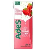 Bebida à Base de Soja Sabor Morango 200ml 1 UN Ades